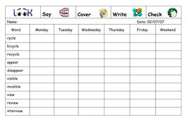 Spelling Week 26  - July 2nd 2007.doc