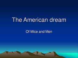 The American Dream - Of mice and men
