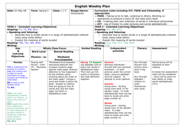 Dictionary planning