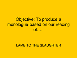 Lamb to the slaughter - What were Patrick's words?