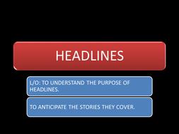 Wacky Headline Writing