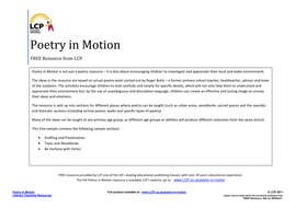 Poetry through Outdoor learning - great ideas!