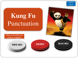Punctuation with Kung Fu Panda