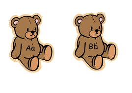teddy bear alphabet - Word Version