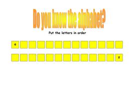 Blank alphabet