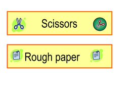 Resource tray labels