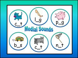 CVC game - medial Sounds