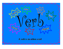 Noun; verb and adjective posters