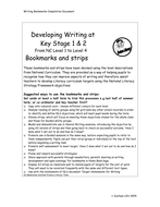 Writing Lesson Targets and Student Assessment Cards