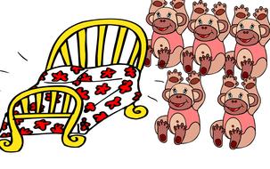 5 little monkeys (images only)