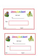 Literacy Book Award