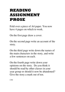 Reading assignment prose