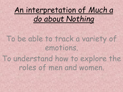 Lesson - Much Ado About Nothing