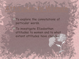 Elizabethan Attitudes Toward Woman