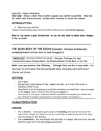 Uneasy Homecoming - Essay Plan