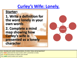 Of Mice and Men Curley's Wife - Lonely