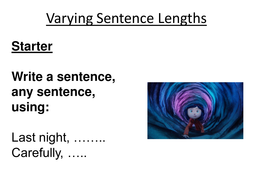 Coraline Varying Sentence Lengths Lesson