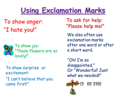 Anchor chart for the use of exclamation marks
