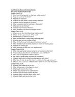 War Horse Questions