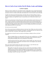 How to Craft a Great Article