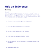 An analysis of the poem Indolence by John Ketas