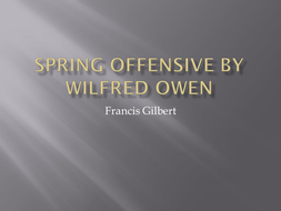 """""""Spring Offensive"""" PowerPoint"""
