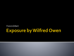 A presentation on Exposure