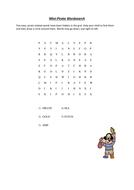 Mini Pirate Wordsearch