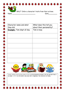 Reading comprehension inference activity