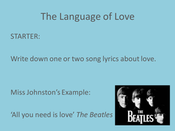 The language of love.ppt