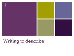 Introduction to Writing to Describe