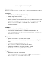 Romeo and Juliet Essay Plan Act 1 Scene 5