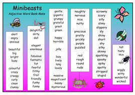 minibeast adjective word mat 1.doc