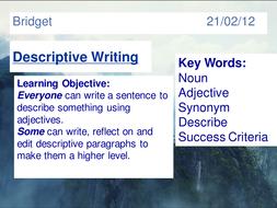 Lesson on Descriptive Writing - Dialogue