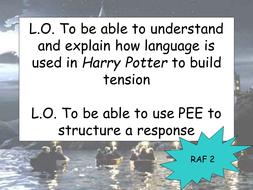 Creative Writing using HP as an example