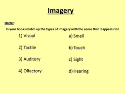 Using imagery in creative writing