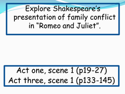Romeo and Juliet Relationship Study
