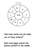 a-e word wheel