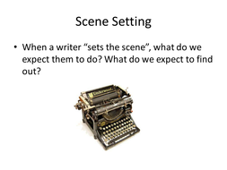 Narrative Writing: Setting