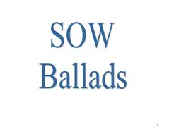 Ballads - Scheme of work