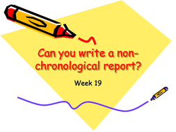 Can you write a non-chron report Lesson 6.ppt
