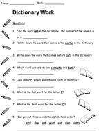 Dictionary Handouts
