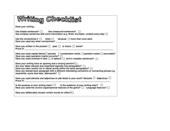 Revizing Checklists for Upper Elementary Writing