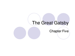 The Great Gatsby Chapter Notes