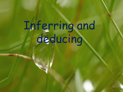Comprehension Activities on Inferring and Deducing