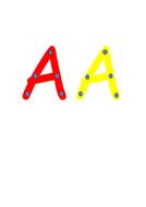 alphabet lacing cards