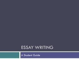 Planning and Structuring an Essay