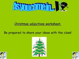 Elf Christmas Lesson.