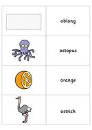 Flash Card Sets:Beginning Letters o; c; g; k.