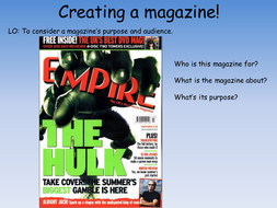 Magazine Covers:  Media Literacy
